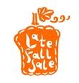 Pumpkin fall sale vector image