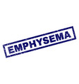 rectangle scratched emphysema stamp vector image