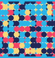 retro seamless pattern with circles colorful vector image vector image