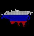 russia colors dot eurasia map vector image vector image