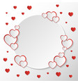 san valentine invitation card composition with vector image vector image