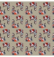 Seamless pattern red and blue horse vector image vector image
