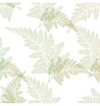 seamless pattern with fern leaves vector image vector image