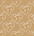 seamless pattern with hearts and bow vector image vector image