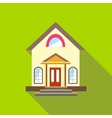 Small cute house icon flat style vector image vector image
