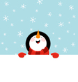 Snowman Message vector image vector image
