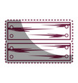 sticker line wooden planks with metal laces vector image
