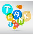 Thank You Paper Title in Colorful Circles Isolated vector image vector image