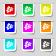 Us dollar icon sign Set of multicolored modern vector image vector image