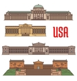 USA famous travel attractions landmarks vector image