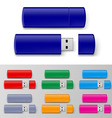 Usb flash set vector image vector image