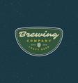 Vintage brewery logo retro styled beer emblem