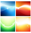 Vivid backgrounds of streams vector image vector image