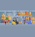 warehouse interior inside vector image vector image