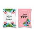 wedding save date floral cards flowers leaves vector image vector image