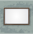 wooden frame on concrete wall vector image vector image