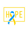 world down syndrome day march 21 realistic blue vector image vector image