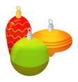 xmas tree toy icon isometric style vector image