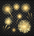 yellow festival fireworks colorful carnival vector image vector image