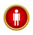Man icon in simple style vector image