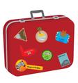 suitcase baggage vector image