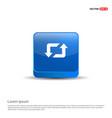 2 side arrow icon - 3d blue button vector image