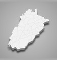 3d isometric map punjab is a province of vector image vector image