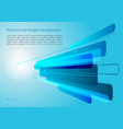 abstract blue rectangle background vector image vector image