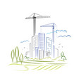 abstract city development vector image vector image
