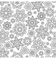 abstract hand drawn outline seamless pattern vector image vector image