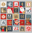 advent calendar winter holiday poster december vector image vector image