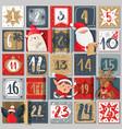 advent calendar winter holiday poster december vector image