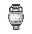 ancient greek amphora sketch vector image
