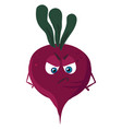 angry beet on white background vector image vector image