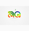 aq a q rainbow colored alphabet letter logo vector image vector image