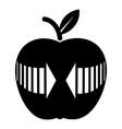 arrow apple icon simple black style vector image vector image