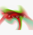 background abstract - liquid colors wave flow vector image
