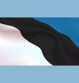 background estonian flag in folds tricolour vector image vector image
