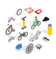 bicycle icons set isometric 3d style vector image vector image