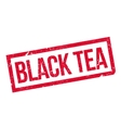Black Tea rubber stamp vector image vector image