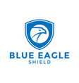 blue eagle shield logo icon design template vector image vector image