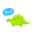 cartoon cute doodle dinosaur vector image
