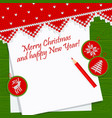 christmas card scandinavian style green vector image