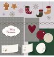 Christmas scrapbook vector image vector image