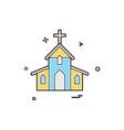 church christian holey cross icon design vector image vector image
