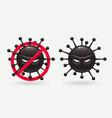 coronavirus molecule art vector image