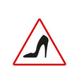 danger heel black icon vector image vector image