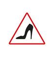 danger heel black icon vector image