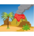 Desert and vulcan vector image vector image