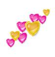 diagonal of heart baloons vector image
